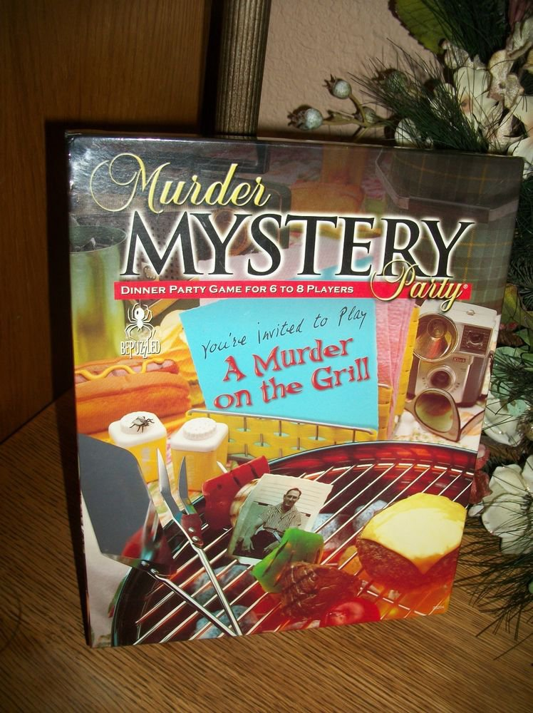 Murder on the Grill Mystery Game Dinner Party in a Box for 8 by Bepuzzled NIB