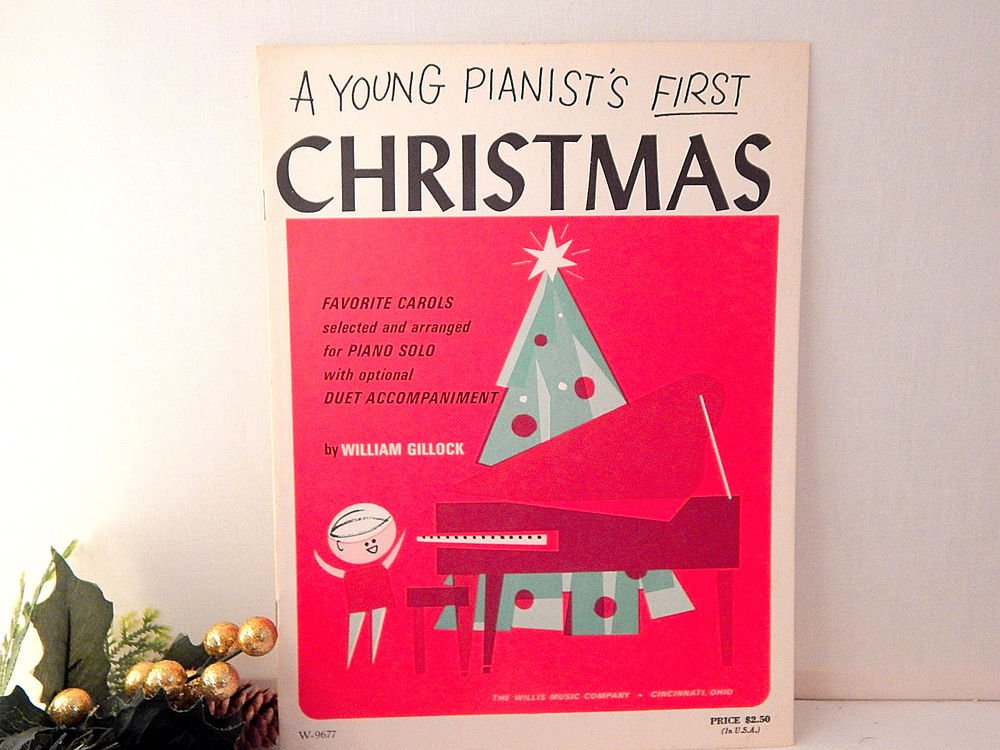 Young Pianist's First Christmas Favorite Carols for Piano VTG Student Music Book