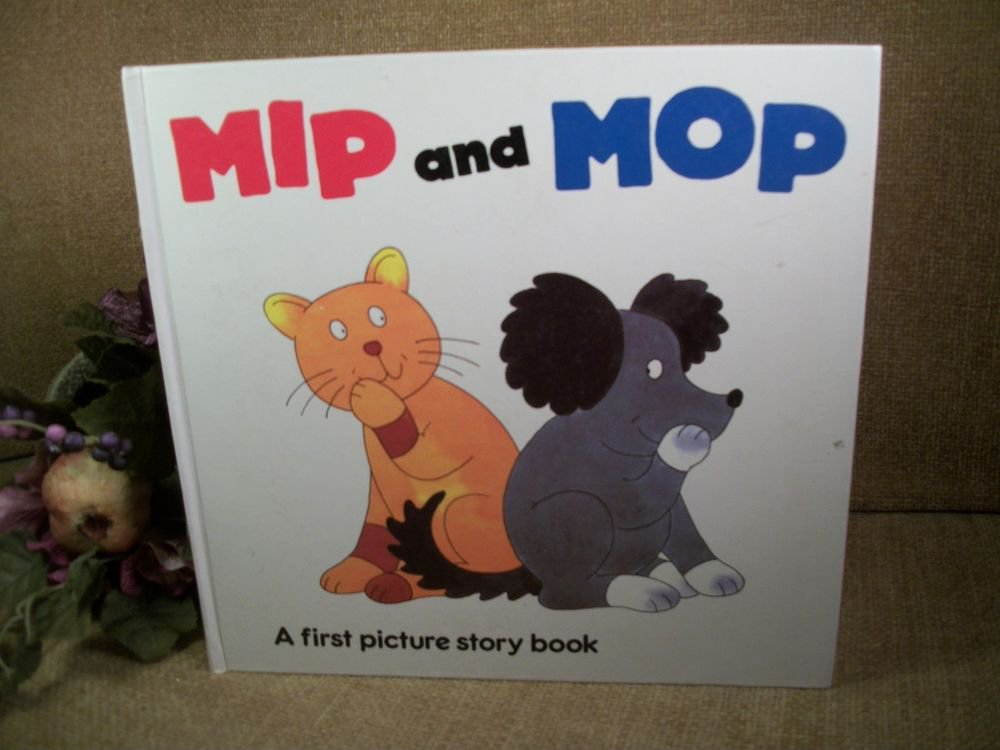 Mip and Mop Dog Cat Animal Children's Story Book by Gerald Hawksley RARE VTG