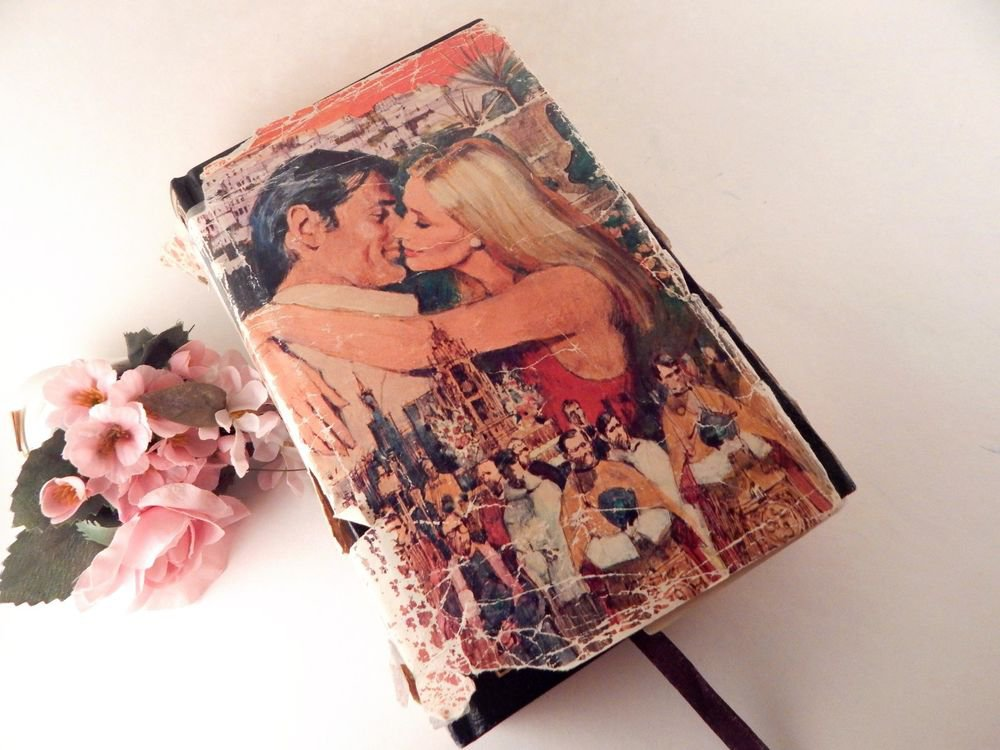 Romance Treasury Association VTG  Book 3 Novels Passion Intrique Shabby Decor