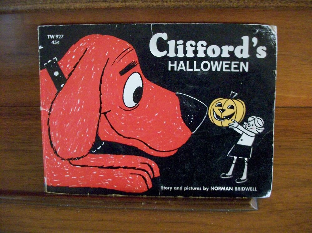 Clifford's Halloween Big Red Dog Story Book Norman Bridwell VTG 1969 Paperback