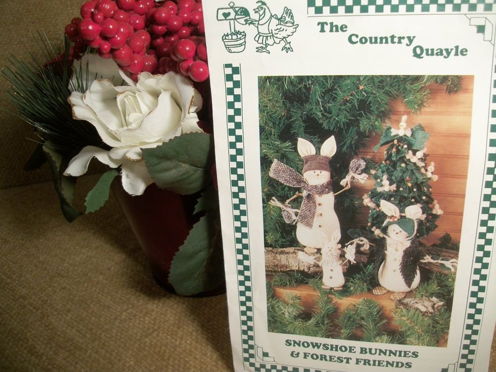 Snowshoe Bunnies and Forest Friends Christmas Craft Patterns by Country Quayle