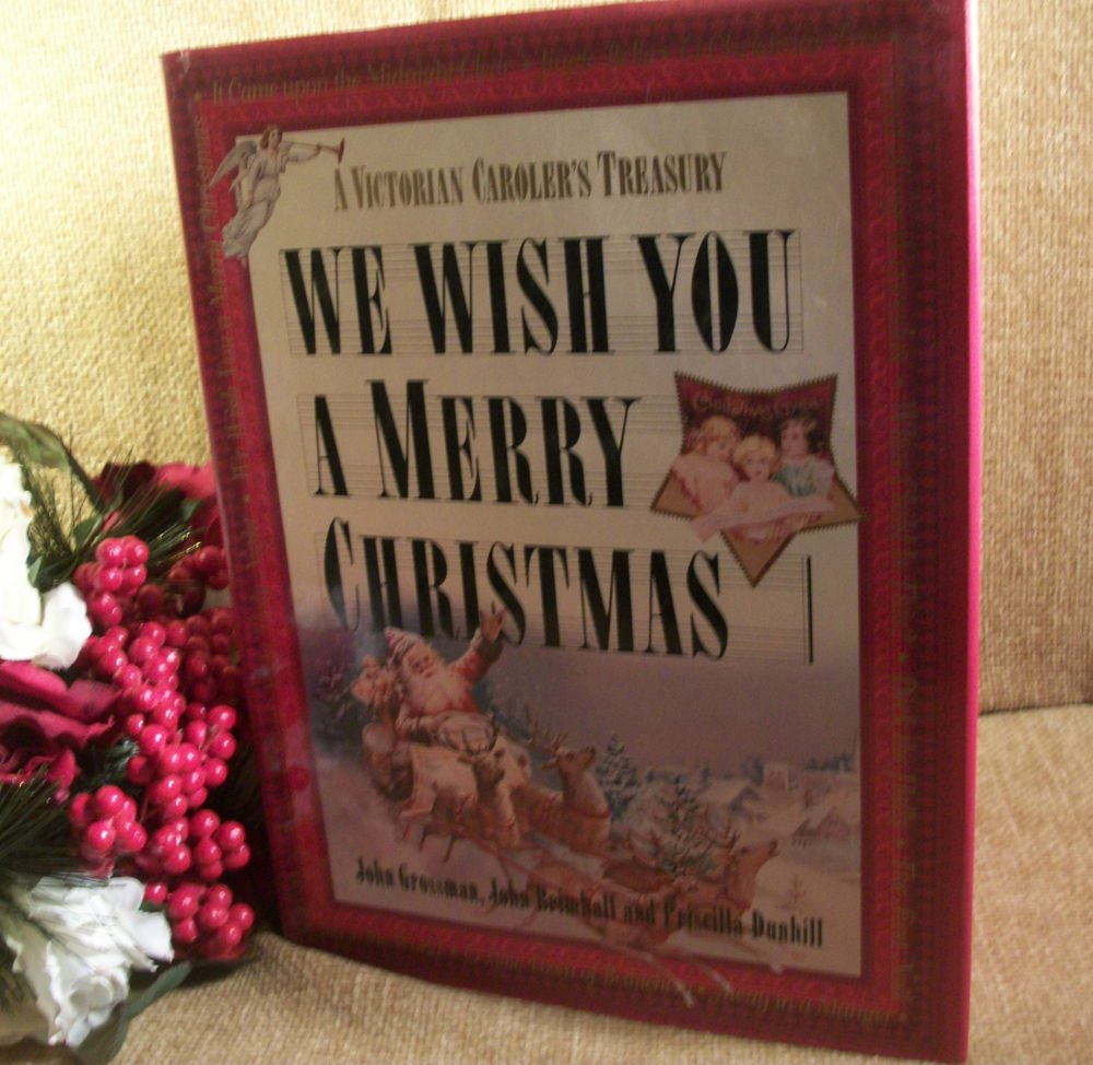 Victorian Caroler's Treasury We Wish You a Merry Christmas Gift Book Piano Music