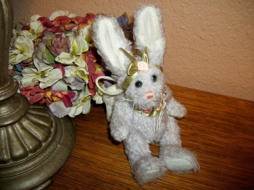 "Guardian Angel Bunny Rabbit 7"" Lavender Stuffed Plush Animal Decor Gift"