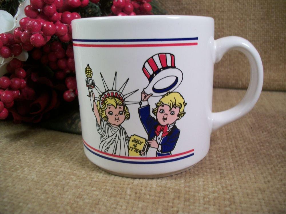 Mug Ceramic Campbell's Soup Kids Salute America Statue of Liberty Uncle Sam