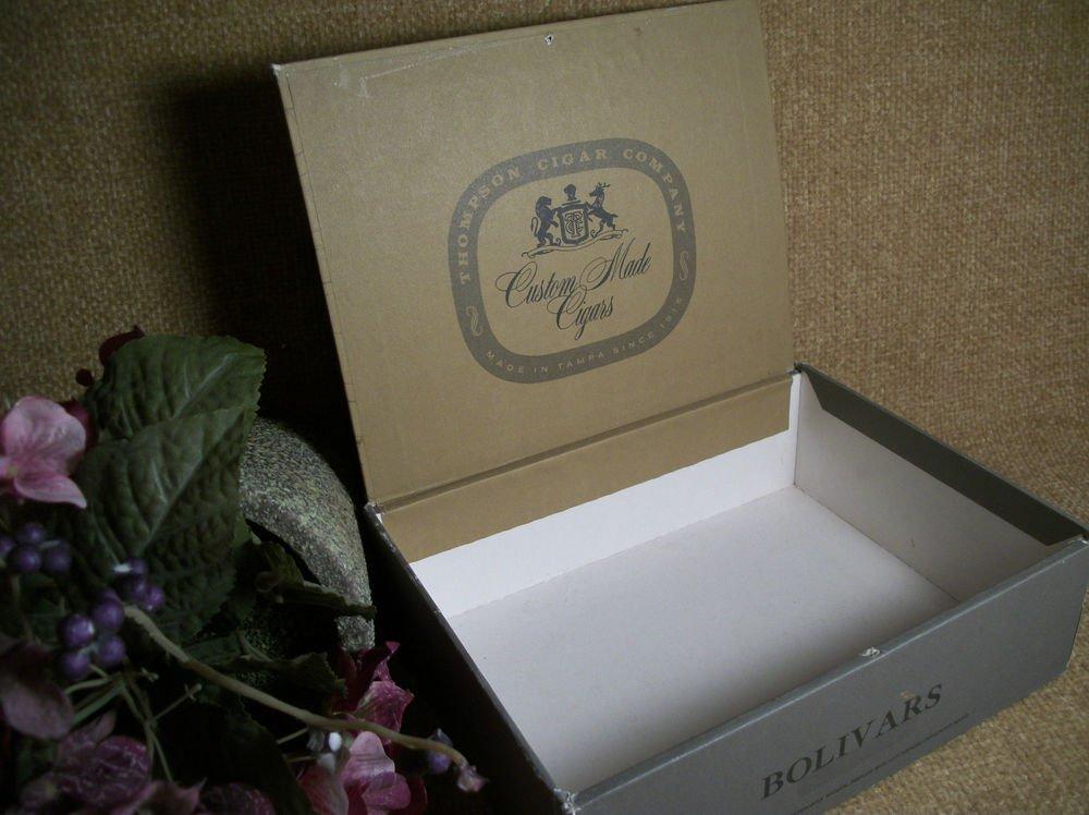 Thompson Cigar Co Cardboard Cigar Box Bolivars Advertising Logo Nautical Map