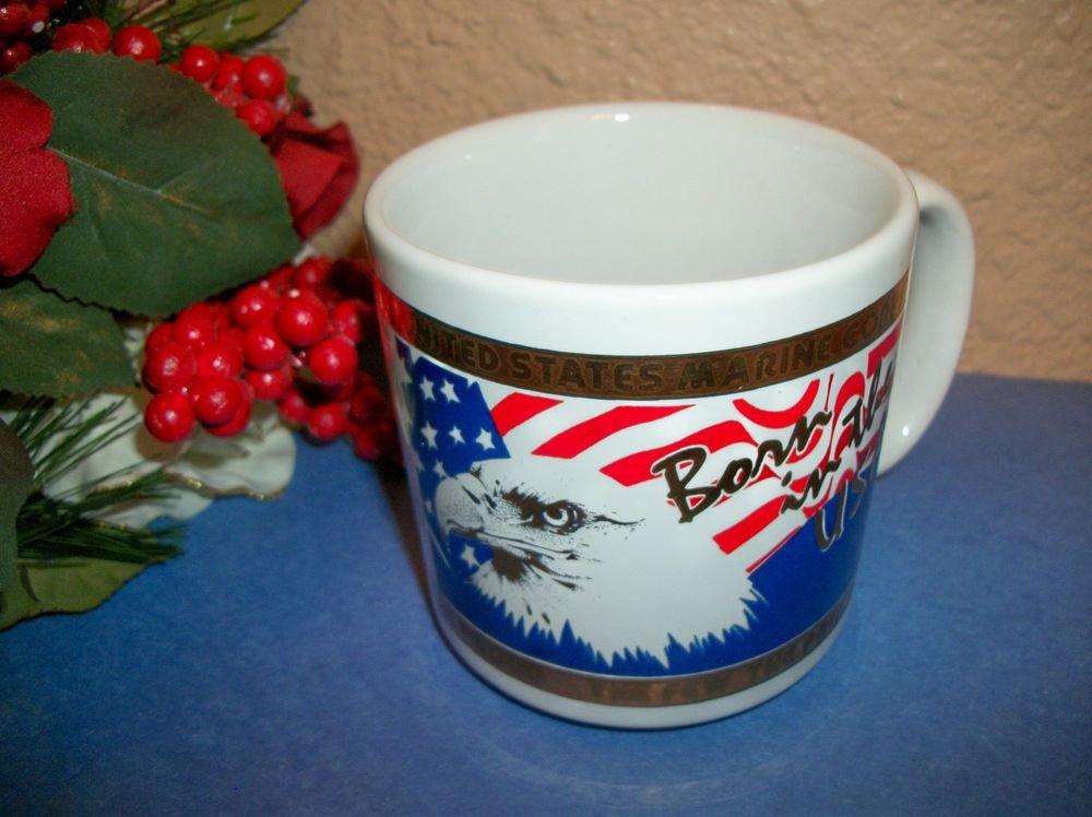 Coffee Mug US Marine Corps American Eagle Flag 22k Kapan Kent Semper Fi Cup