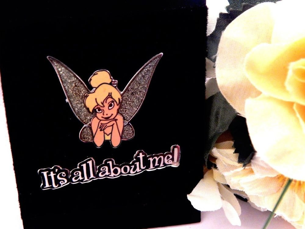 Disney Tinker Bell  2 pc Pin 9311B It's All About Me 2001 Trade Jewelry w/ Card