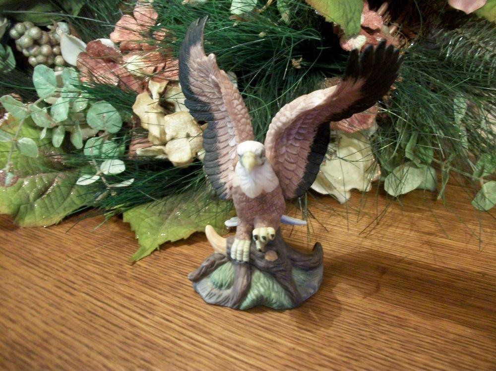 American Eagle Figurine VTG Porcelain Birds in Flight Liberty Society Sculpture