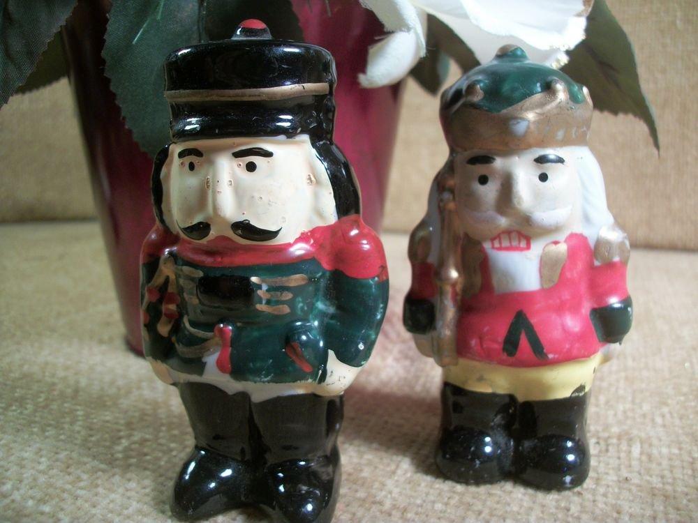 Ceramic Nutcracker Soldier Figurines Christmas Decorations