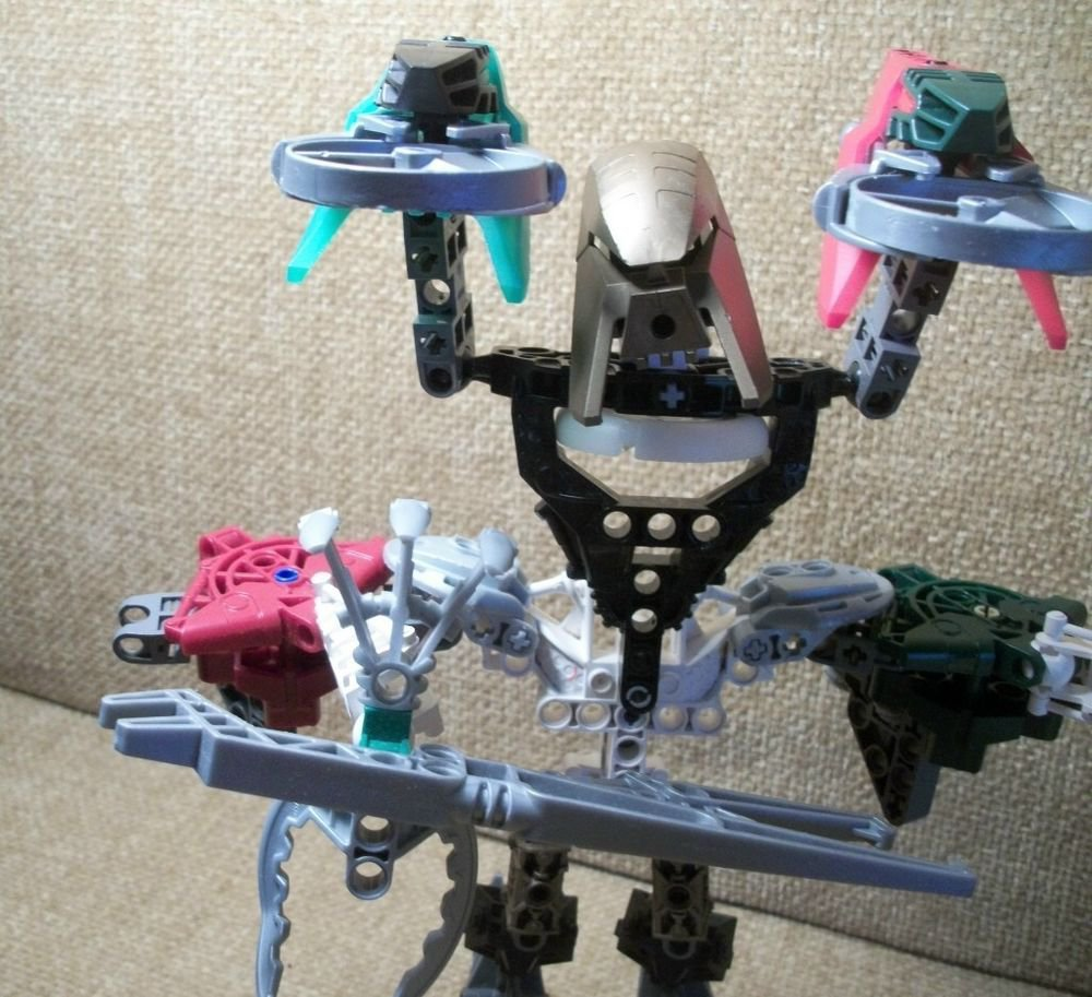 Real LEGO BIONICLE Parts Over 75 Specialty Pieces with Weapons Disc Shooter