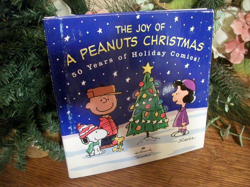 Joy of Peanuts Book Christmas 50 Years Holiday Comics Charles Schultz Hallmark