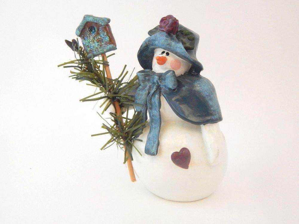 Snowman Figurine Enesco Collectible Donna Little Snow Woman Girl Christmas Decor