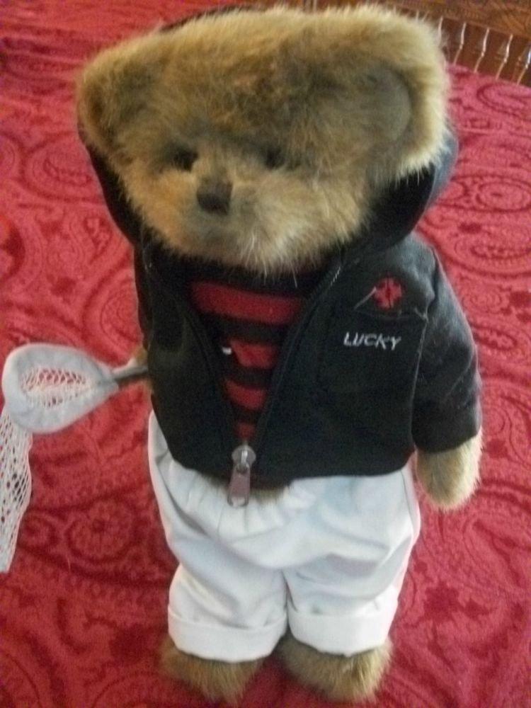 Bearington Lady Bug Catcher Plush Bear Collectible Stuffed Animal Home Decor