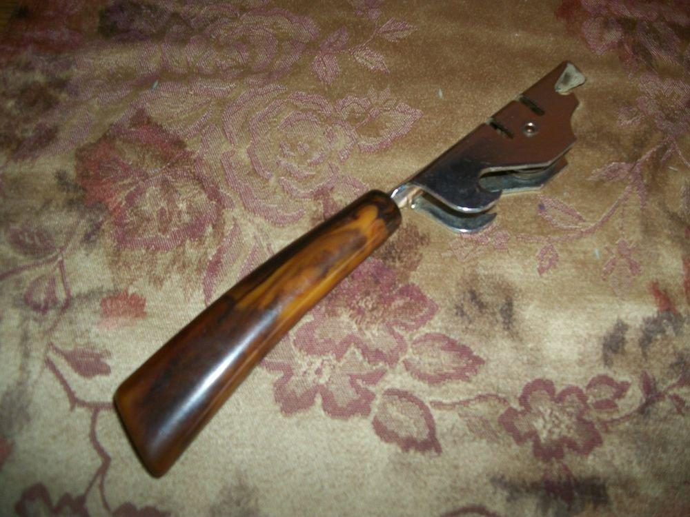 Antique Kitchen Tool VTG Can and Bottle Opener Knife Sharpener Home Bar Gadget