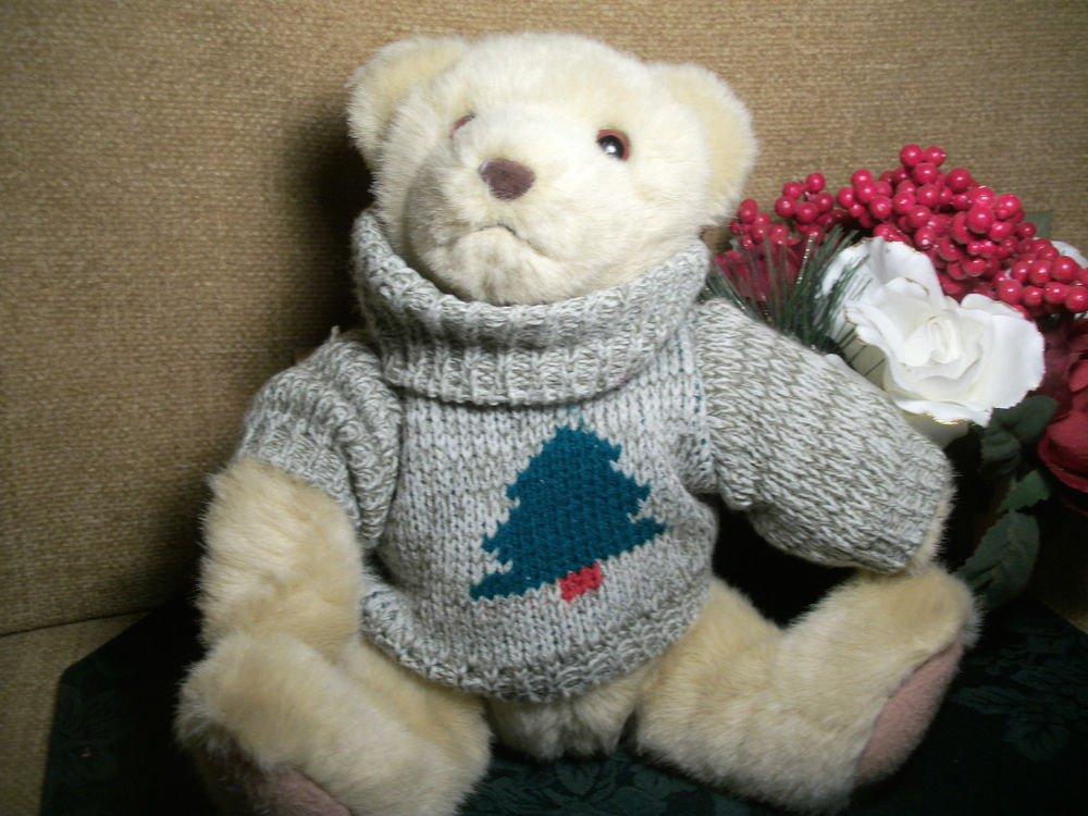 "Christmas Teddy Bear HALLMARK Collectible 11"" Stuffed Plush Winter Decoration"