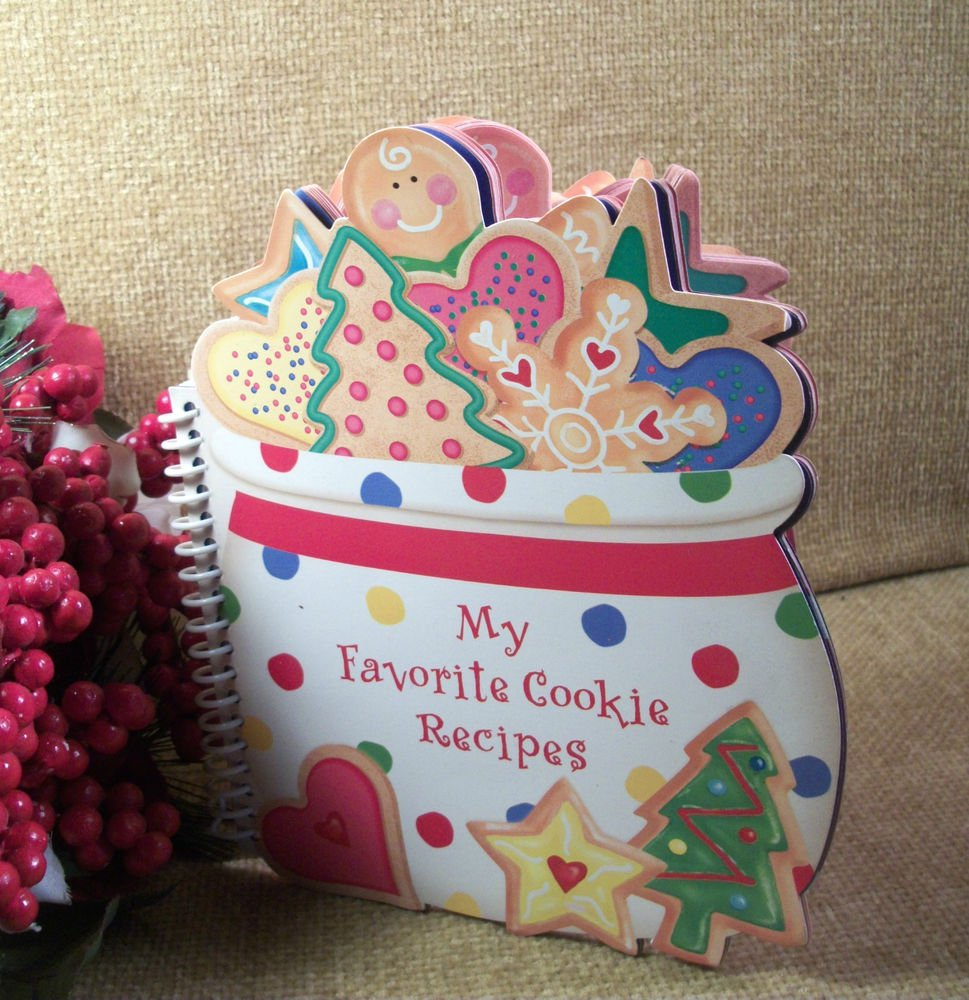 My Favorite Cookie Recipes Cookbook Christmas Recipes Holiday Gift Book