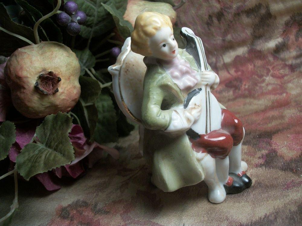 Musician Man Provencial French Louis XIV Porcelain Figurine VTG Occupied Japan