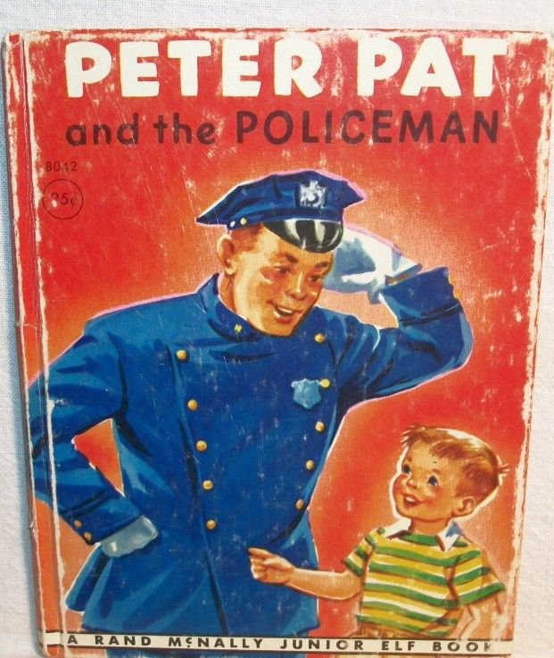 Peter Pat & the Policeman Childrens Story Book VTG 1948 Collectible Jr Elf Book