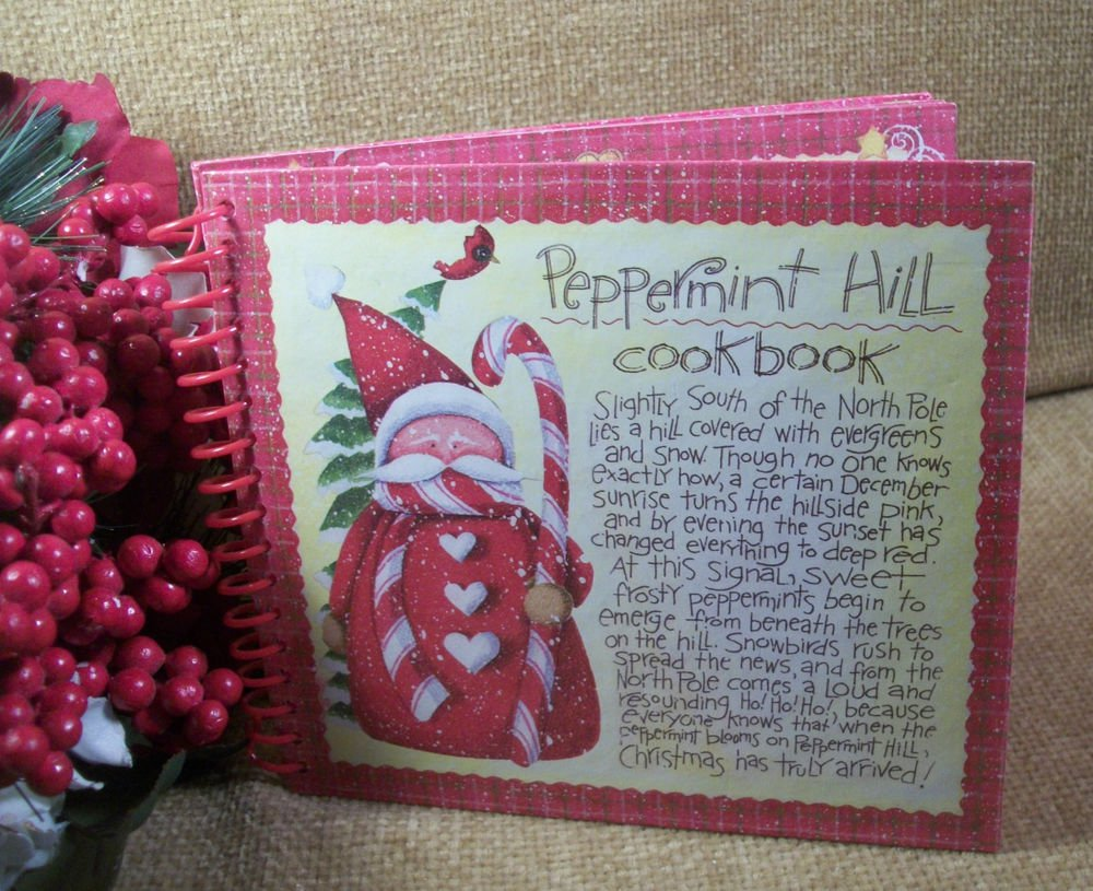 Peppermint Hill Cookbook Christmas Desserts Recipes Gift Book Cooking Food