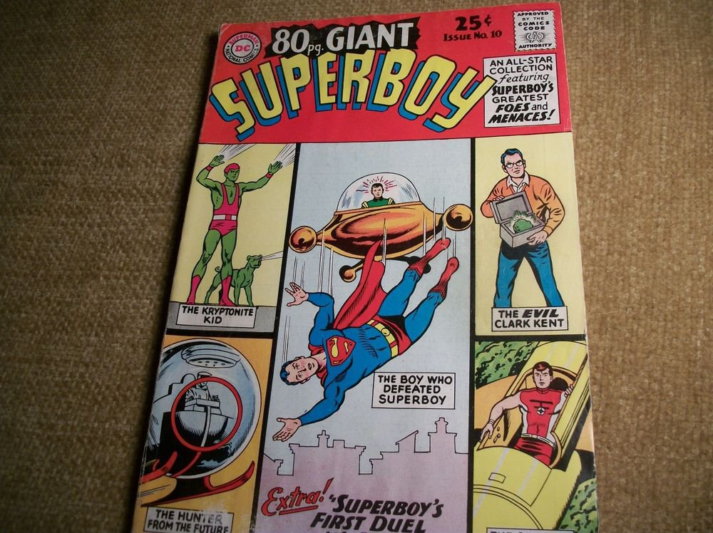SUPERBOY Comic Book Giant Issue DC National Comics May 1965 No 19 Foes Menaces