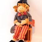Uncle Sam Doll Patriotic USA  Americana Red White Blue Home Decor