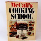 McCall's Cooking School Cookbook Recipe Book Vintage 1976 Hardcover Cooking Baking Homemaking Guide