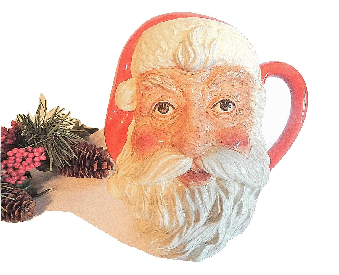 Santa Claus Mug Royal Doulton Figural Toby Jug Barware Vintage1983 Christmas Collectible D6704