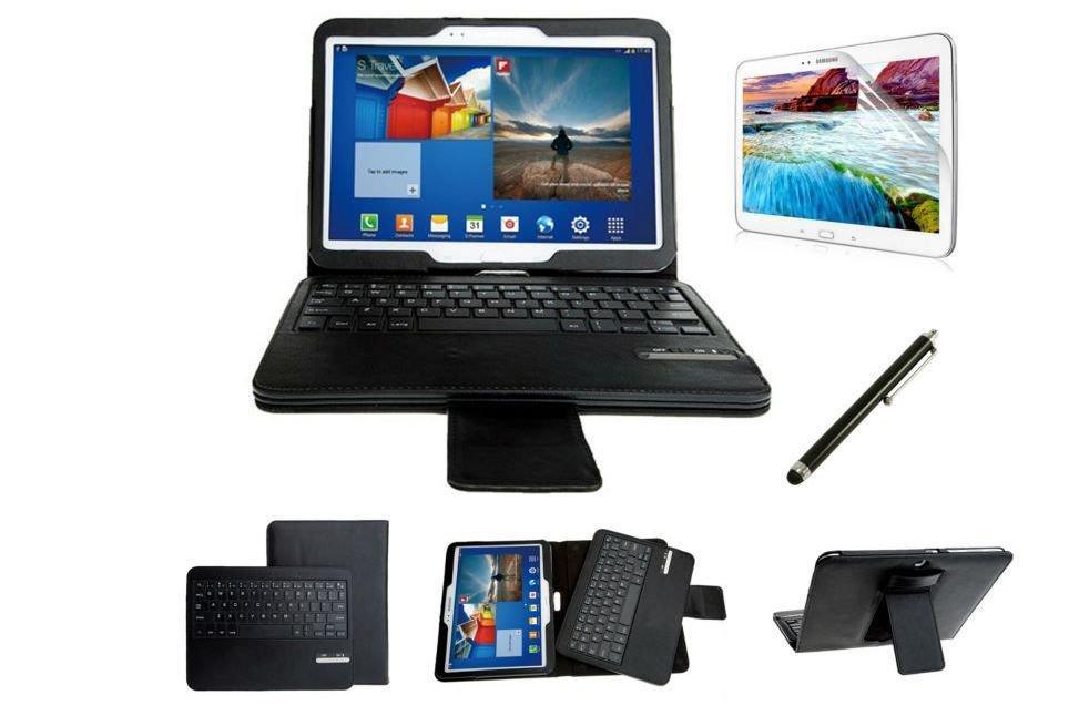 myBitti  Samsung Galaxy Tab 3 10.1 Portfolio Case Bluetooth Keyboard stylus pen