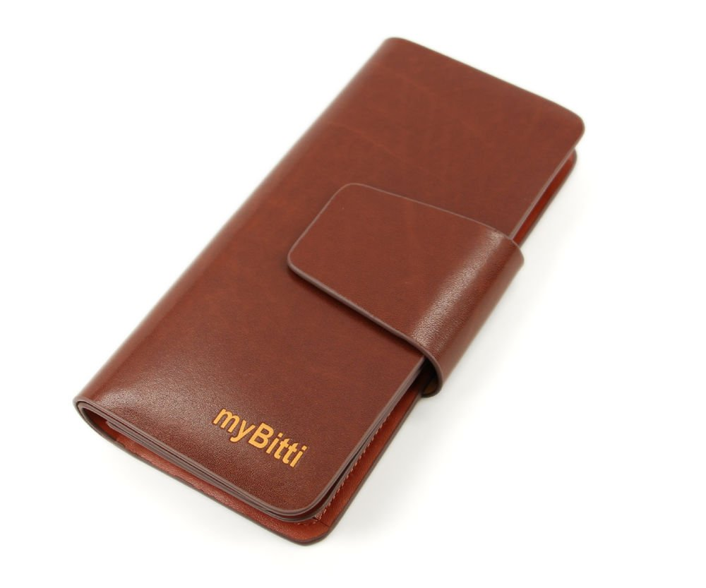 New Business Style Men's Genuine Spainsh cow Leather Wallet with 24 Card slots