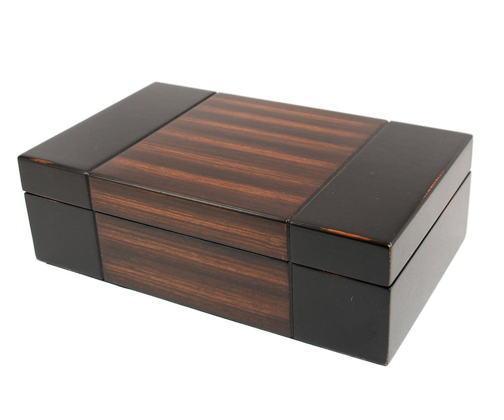 Decorebay Dark Walnut wood JEWELRY BOX Travel CASE / STORAGE / ORGANIZER new