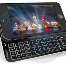 Ultra thin Backlit Wireless Bluetooth 3.0 Keyboard Case for iphone 5 5S Black