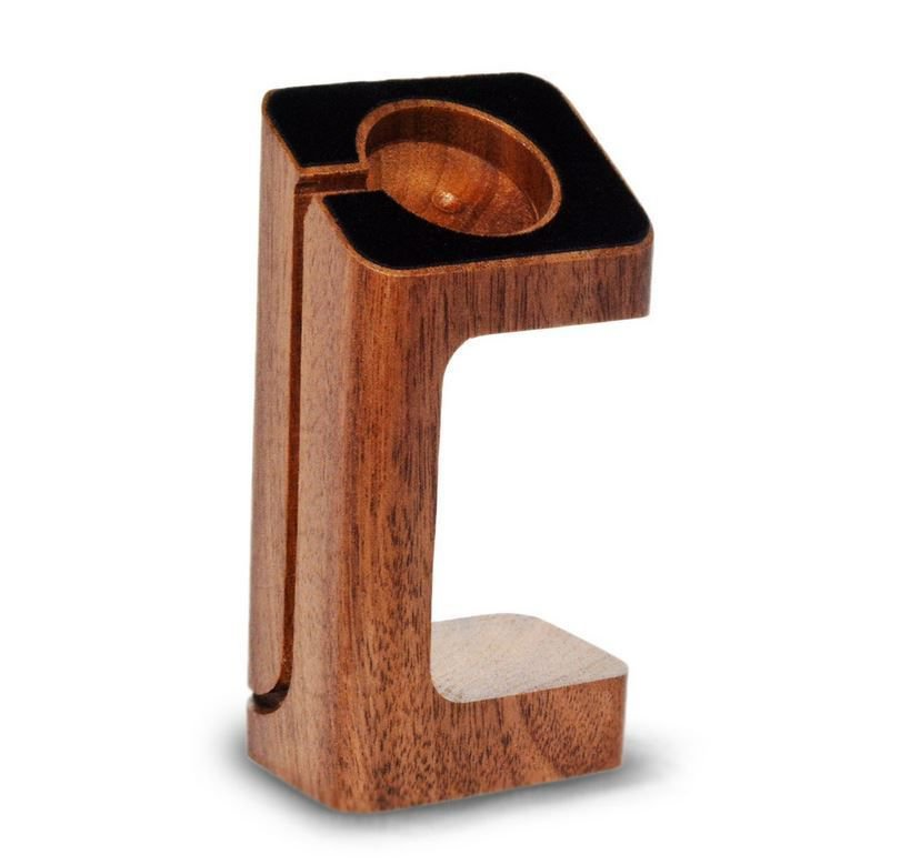 Xtenzi Wood Docking Station Cradle Hold for Apple Watch (Brown)