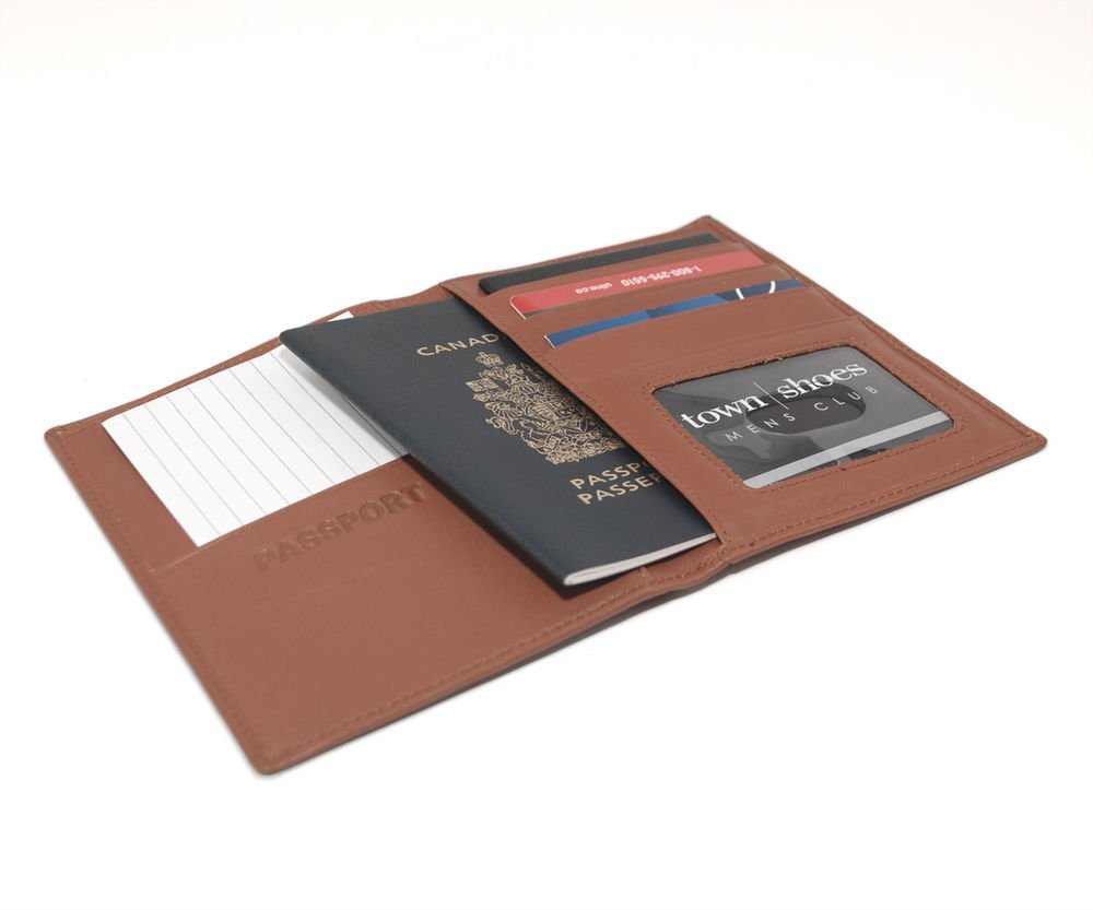 100%real cow LEATHER Executive Boarding Pass passport Currency wallet case