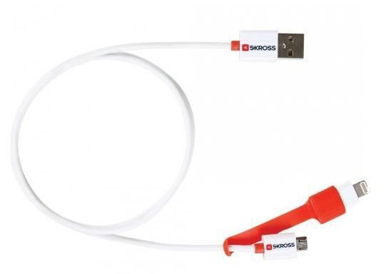 Skross 2 in 1 Charge 'n Sync cable with Micro USB & Lightning connector [SKR2700