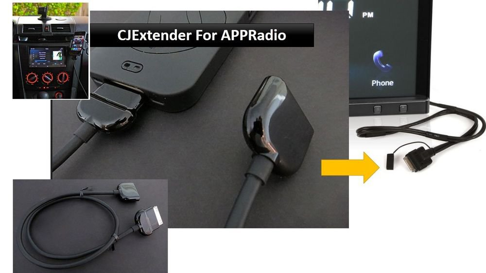APPXtender Pioneer AppRadio Extender Cable for iPod iPhone iPad, (SPH-DA01 )