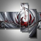 The Red Sea -Abstract-handmade painting-set of 5pcs