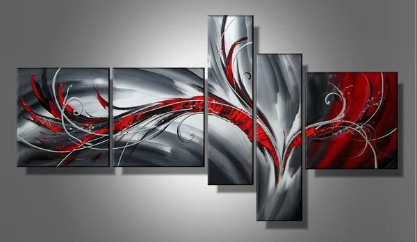 Lolo -Abstract-handmade painting-set of 5pcs