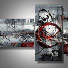 Zaza -Abstract-handmade painting-set of 3pcs