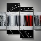 Rome -Abstract-handmade painting-set of 4pcs