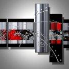 Shadows -Abstract-handmade painting-set of 5pcs