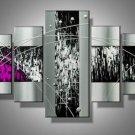Purple Rain -Abstract-handmade painting-set of 5pcs