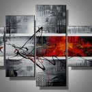 New York -Abstract-handmade painting-set of 4pcs