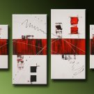 Macao -Abstract-handmade painting-set of 4pcs