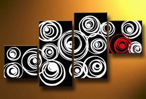 Twin -Abstract-handmade painting-set of 4pcs