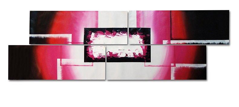 Heart -Abstract-handmade painting-set of 4pcs
