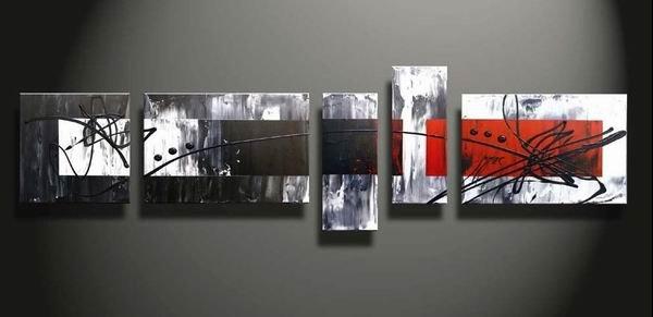 Redman -Abstract-handmade painting-set of 5pcs