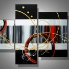 Little Heaven -Abstract-handmade painting-set of 4pcs