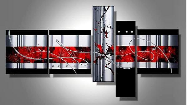Fuji -Abstract-handmade painting-set of 5pcs
