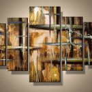 Shining star -Abstract-handmade painting-set of 5pcs